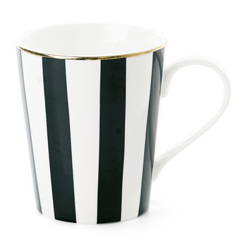 Black Stripe Ceramic Coffee Mug