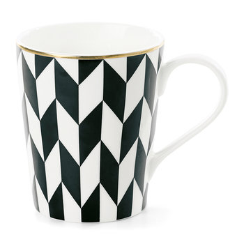 Black Zigzag Ceramic Coffee Mug