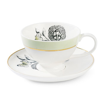 Big Flower Teacup & Saucer