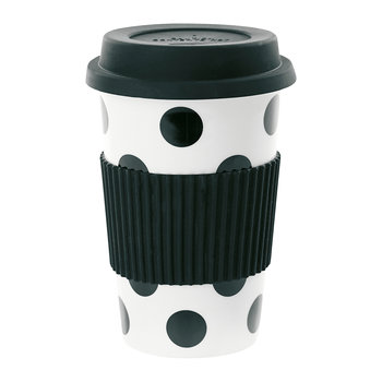 Ceramic Travel Mug - Big Black Dots