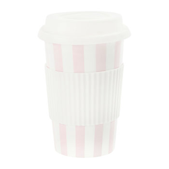 Ceramic Travel Mug - Rose Stripes