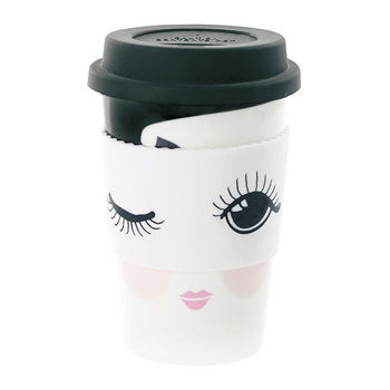 Ceramic Travel Mug - Open & Closed Eyes