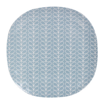 Linear Stem Blue Large Plate