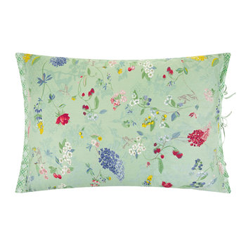 Hummingbirds Light Green Pillowcase Pair