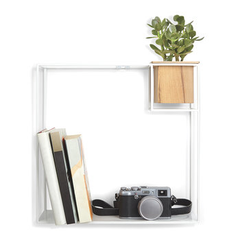 Cubist Wall Shelf - White