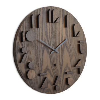 Shadow Wall Clock - Walnut