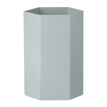 Hexagon Vase - Light Blue - 9x15cm