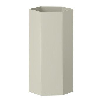Hexagon Vase - Gray - 9x19cm