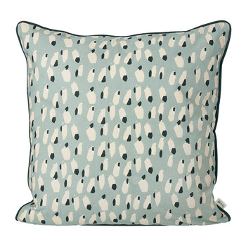 Spotted Pillow - 50x50cm - Dusty Blue
