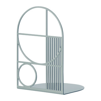 Outline Bookend - Dusty Blue