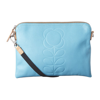 Stem Embossed Travel Pouch - Sky