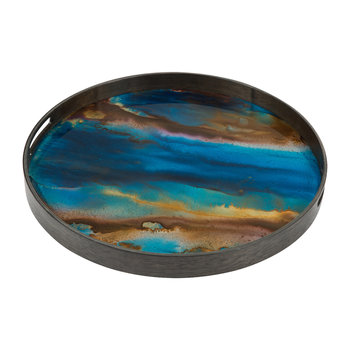 Indigo Organic Glass Tray