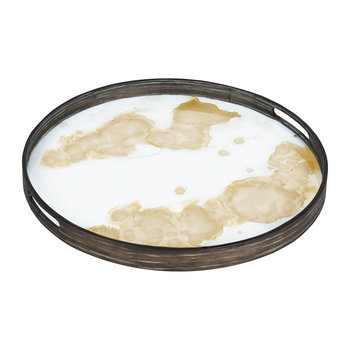 Gold Mist Organic Glass Tray