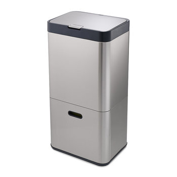 Intelligent Waste Totem - Stainless Steel - 60 Litres