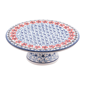 Cake Stand - Red Violets