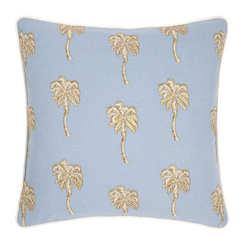 Palmier Cushion - 45x45cm - Chambray