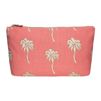 Palmier Travel Pouch - Coral