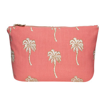 Palmier Wash Bag - Coral