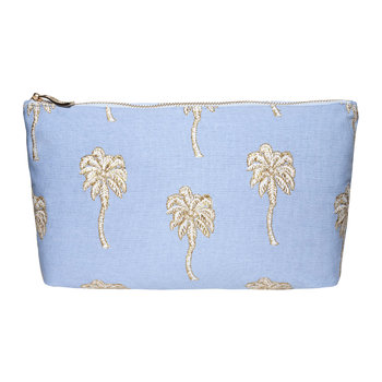 Palmier Travel Pouch - Chambray