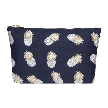 Ananas Wash Bag - Indigo