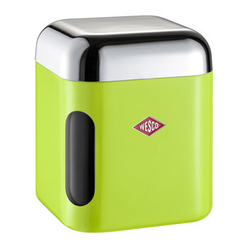 Square Canister with Window - Lime Green