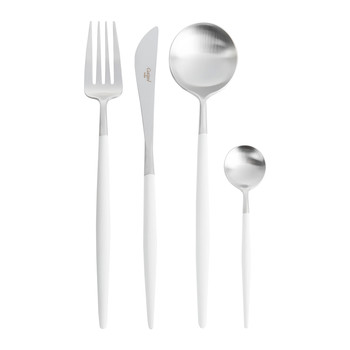 Goa Flatware Set - 24 Piece - White