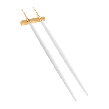 Goa Chopstick Set - Matt White Gold