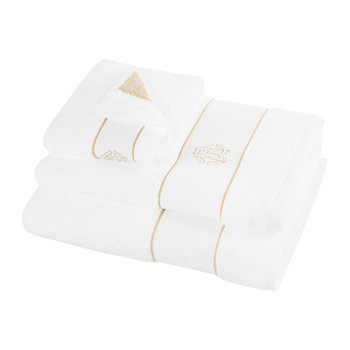 Gold Towel - White