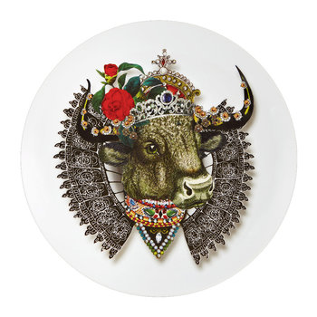 Love Who You Want - Assiette « QueenBull »