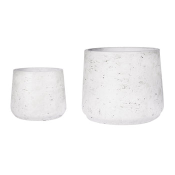 Stratton Cement Plant Pots - Set of 2 - Stone
