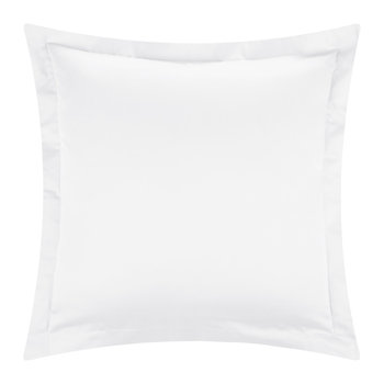 Cotton Sateen 300 Thread Count Pillowcase - White - Square