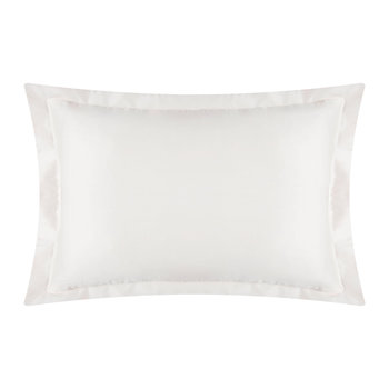 Cotton Sateen 300 Thread Count Pillowcase - Ivory - Oxford