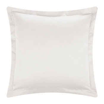 Cotton Sateen 300 Thread Count Pillowcase - Ivory - Square
