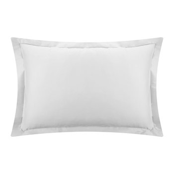 Cotton Sateen 300 Thread Count Pillowcase - Silver - Oxford
