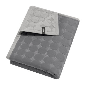 Baby Dot Bed Cover - Dark Gray
