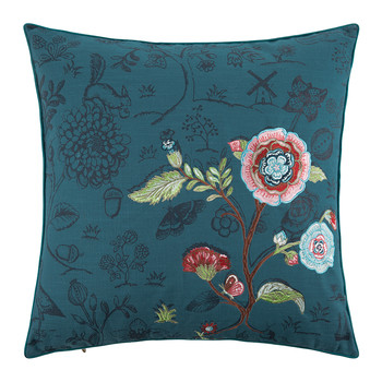 Spring To Life Pillow - 50x50cm - 2 Tone Dark Blue