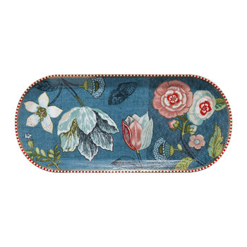 Spring To Life Rectangular Cake Tray - Blue