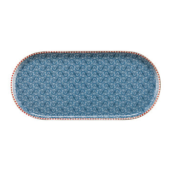 Spring To Life Rectangular Plate - Blue
