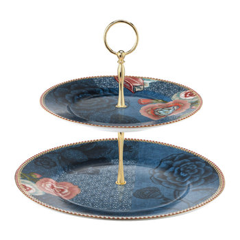 Spring To Life 2 Tier Cake Stand - Blue