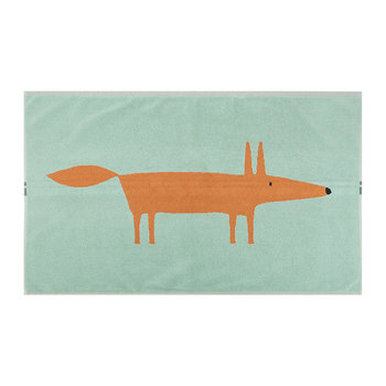 Mr Fox Bath Mat - Aqua