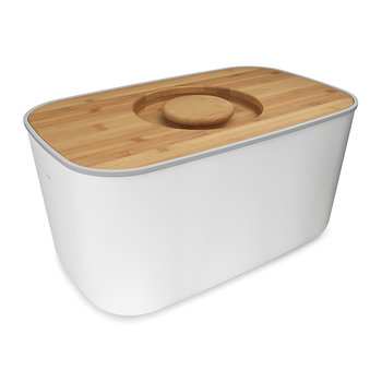 Steel Bread Bin - White