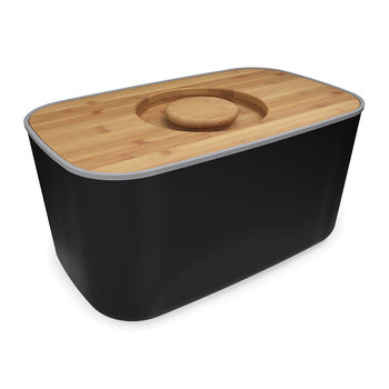 Steel Bread Bin - Black