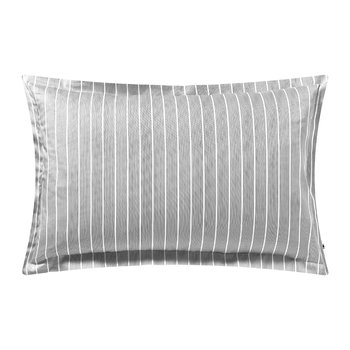 Sateen Stripe Pillowcase - Gray