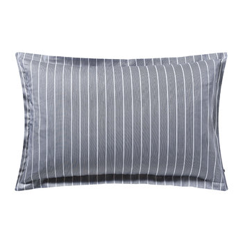 Sateen Stripe Pillow Case - Navy