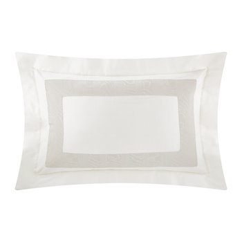 Neo Moire Jacquard Pillowcase - Set of 2 - Beige