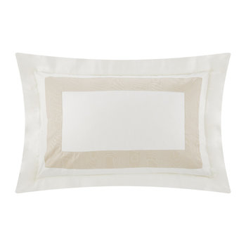 Neo Moire Jacquard Pillowcase - Set of 2 - Beige/Pearl