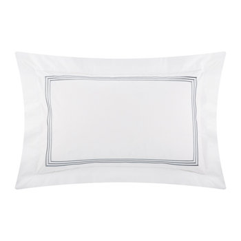Three Lines Pillowcase - Set of 2 - 50x75cm - White/Platinum