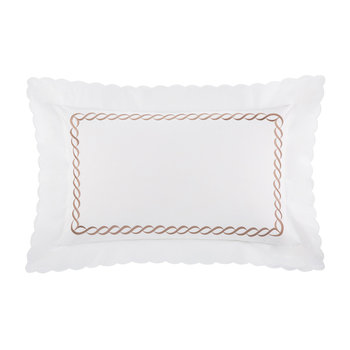 Chain Lamé Jacquard Pillowcase - Set of 2 - 50x75cm - White/Copper