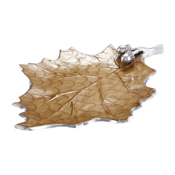Oak Leaf Platter - Toffee