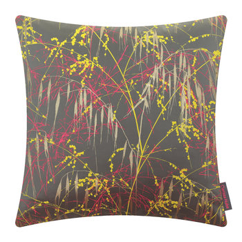 Three Grasses Cushion - 45x45cm - Storm/Neon/Sulphur